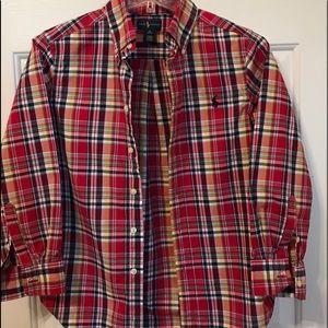 Ralph Lauren Plaid long sleeve button down shirt